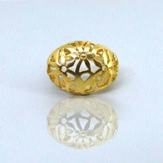 2.5 Micron Gold Plating Siver Ring