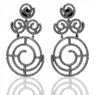 Diamond White CZ 925 Sterling Silver Earrings