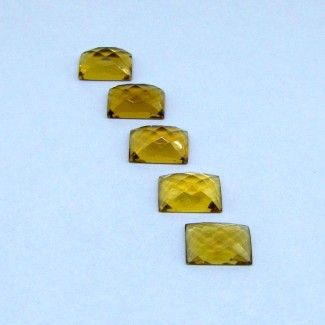 34.9 Cts. Whisky Quartz 10x14mm Baguette Shape Cabochon Parcel (5 Pcs.)