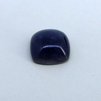 10.95 Cts. Iolite 15mm Square Cushion Shape Single Cab Piece (1 Pcs.)