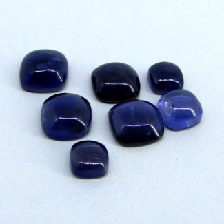 21.4 Cts. Iolite 7-10mm Cushion Shape Cabochon Parcel (7 Pcs.)