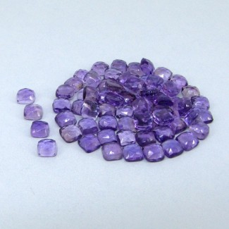 67.40 Carat African Amethyst 6mm Cushion Shape Cabochon Parcel (67 Pcs.)
