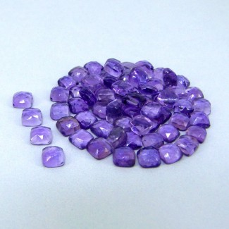 64.70 Carat African Amethyst 6mm Cushion Shape Cabochon Parcel (65 Pcs.)