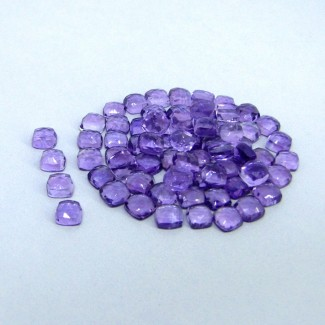 41.40 Carat African Amethyst 5mm Cushion Shape Cabochon Parcel (70 Pcs.)
