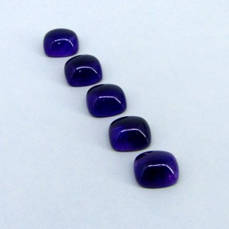 43.50 Carat African Amethyst 14x12mm Cushion Shape Cabochon Parcel (4 Pcs.)