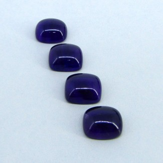 59.50 Carat African Amethyst 16x14mm Cushion Shape Cabochon Parcel (4 Pcs.)