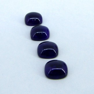 56.90 Carat African Amethyst 16x14mm Cushion Shape Cabochon Parcel (4 Pcs.)