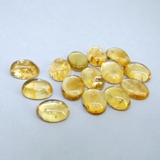 122.45 Carat Citrine 16x12mm Oval Shape Cabochon Parcel (14 Pcs.)