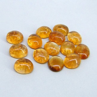 72.60 Carat Citrine 12x10mm Oval Shape Cabochon Parcel (14 Pcs.)