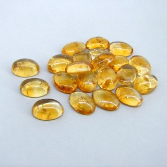 117.15 Carat Citrine 14x10mm Oval Shape Cabochon Parcel (21 Pcs.)