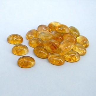 130.25 Carat Citrine 14x10mm Oval Shape Cabochon Parcel (21 Pcs.)