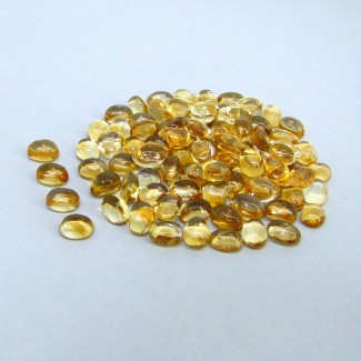 89.40 Carat Citrine 7x5mm Oval Shape Cabochon Parcel (97 Pcs.)