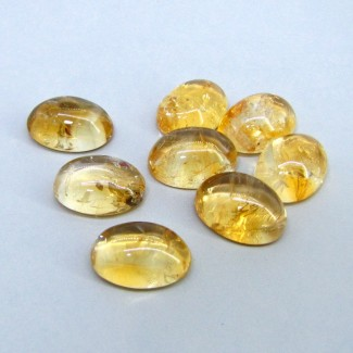 110 Carat Citrine 18x13mm Oval Shape Cabochon Parcel (8 Pcs.)