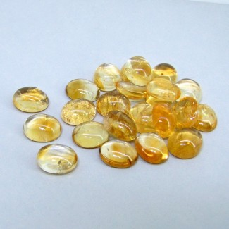108.65 Carat Citrine 12x10mm Oval Shape Cabochon Parcel (23 Pcs.)