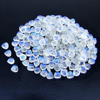120.45 Carat Rainbow Moonstone 5mm Heart Shape Cabochon Parcel (238 Pcs.)