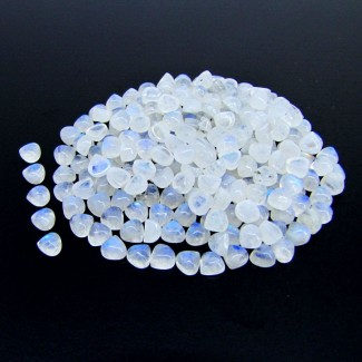 137 Carat Rainbow Moonstone 5mm Heart Shape Cabochon Parcel (263 Pcs.)