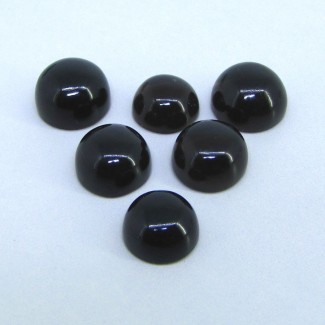 74.35 Carat Smoky Quartz 13-15mm Round Shape Cabochon Parcel (6 Pcs.)