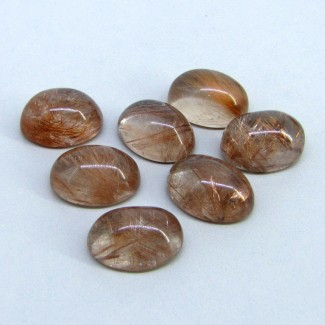 108.85 Carat Golden Rutile 18x13mm Oval Shape Cabochon Parcel (7 Pcs.)