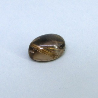 22.60 Carat Golden Rutile 20x15mm Oval Shape Single Cab Piece (1 Pcs.)