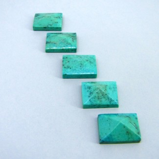 82.50 Cts. Turquoise 20x15mm Fancy Shape Cabochon Parcel (5 Pcs.)