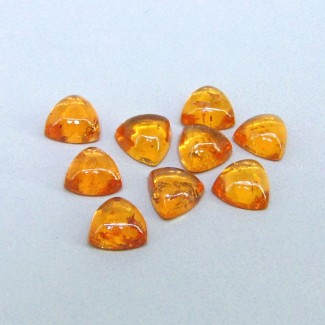 10.75 Cts. Spessartite Garnet 6mm Trillion Shape Cabochon Parcel (9 Pcs.)