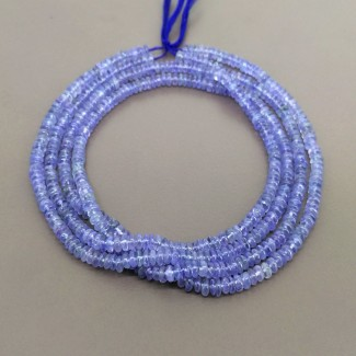 Tanzanite 4-4.5mm Smooth Rondelle Shape Beads Strand