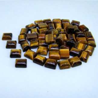 318.50 Cts. Tiger Eye 11x9mm Smooth Cushion Shape Cabochon Parcel (59 Pcs.)