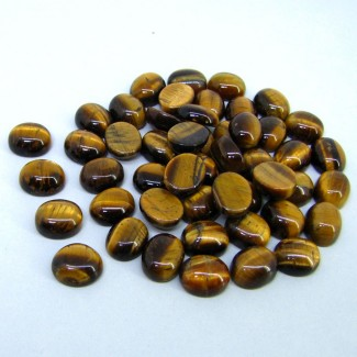 201.10 Cts. Tiger Eye 11x9mm Smooth Oval Shape Cabochon Parcel (49 Pcs.)