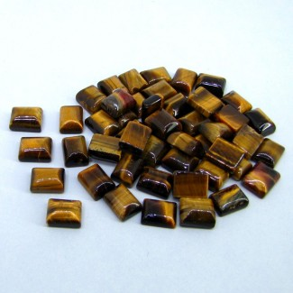 192.60 Cts. Tiger Eye 10x8mm Smooth Oval Shape Cabochon Parcel (49 Pcs.)