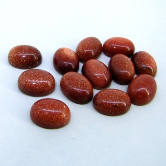 127 Cts. Sand Stone 16x12mm Smooth Oval Shape Cabochon Parcel (12 Pcs.)