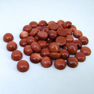183.20 Cts. Sand Stone 10mm Smooth Round Shape Cabochon Parcel (49 Pcs.)