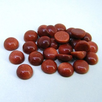 111.65 Cts. Sand Stone 10mm Smooth Round Shape Cabochon Parcel (28 Pcs.)