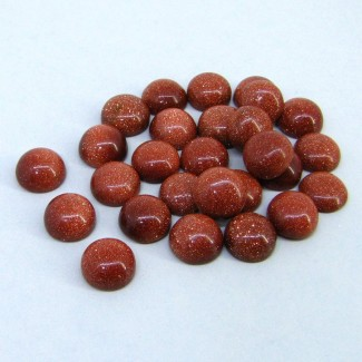 107.85 Cts. Sand Stone 10mm Smooth Round Shape Cabochon Parcel (27 Pcs.)