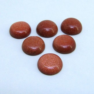 68.10 Cts. Sand Stone 16mm Smooth Round Shape Cabochon Parcel (6 Pcs.)