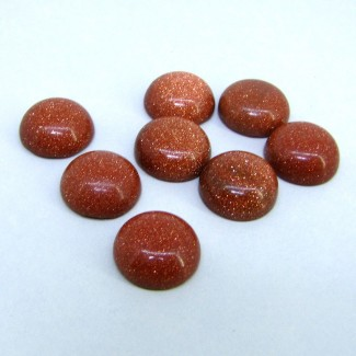 105.90 Cts. Sand Stone 16mm Smooth Round Shape Cabochon Parcel (8 Pcs.)