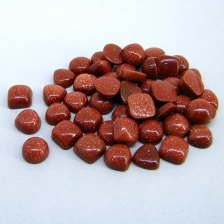 93.70 Cts. Sand Stone 1.25-2.35Cts. Smooth Mixed Shapes Shape Cabochon Parcel (49 Pcs.)