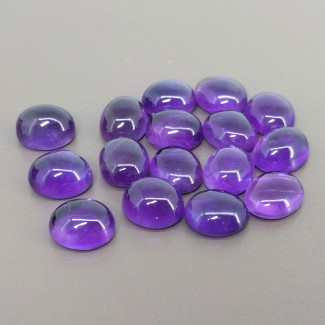 66.60 Cts. African Amethyst 11x9mm Smooth Oval Shape Cabochon Parcel (16 Pcs.)