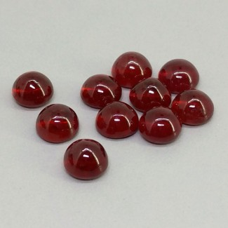 18.85 Cts. Ruby 6.5mm Smooth Round Shape Cabochon Parcel (10 Pcs.)