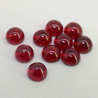 17.15 Cts. Ruby 6mm Smooth Round Shape Cabochon Parcel (10 Pcs.)