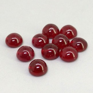 14.85 Cts. Ruby 6mm Smooth Round Shape Cabochon Parcel (10 Pcs.)