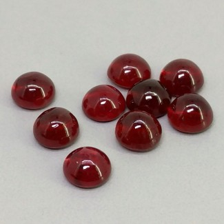 13.20 Cts. Ruby 6mm Smooth Round Shape Cabochon Parcel (9 Pcs.)
