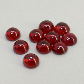 14.80 Cts. Ruby 6mm Smooth Round Shape Cabochon Parcel (10 Pcs.)