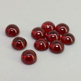 14.50 Cts. Ruby 6mm Smooth Round Shape Cabochon Parcel (10 Pcs.)