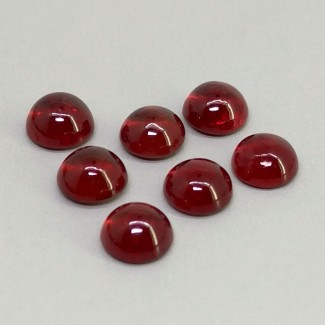 14.50 Cts. Ruby 7mm Smooth Round Shape Cabochon Parcel (7 Pcs.)