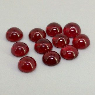 22 Cts. Ruby 7mm Smooth Round Shape Cabochon Parcel (11 Pcs.)