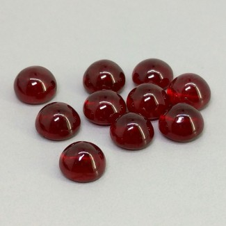 22.95 Cts. Ruby 7mm Smooth Round Shape Cabochon Parcel (10 Pcs.)