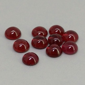 12.55 Cts. Ruby 6mm Smooth Round Shape Cabochon Parcel (10 Pcs.)
