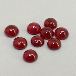 12.05 Cts. Ruby 6mm Smooth Round Shape Cabochon Parcel (9 Pcs.)