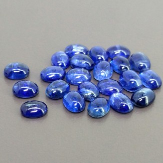 39.90 Cts. Kyanite 8x6mm Smooth Oval Shape Cabochon Parcel (22 Pcs.)