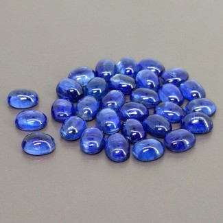 57.10 Cts. Kyanite 8x6mm Smooth Oval Shape Cabochon Parcel (30 Pcs.)